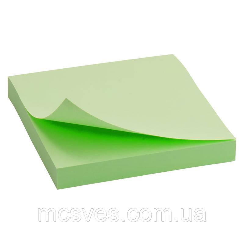 Блок бумаги с липким слоем Delta D3314-02 75x75 мм, 100 листов, зеленый