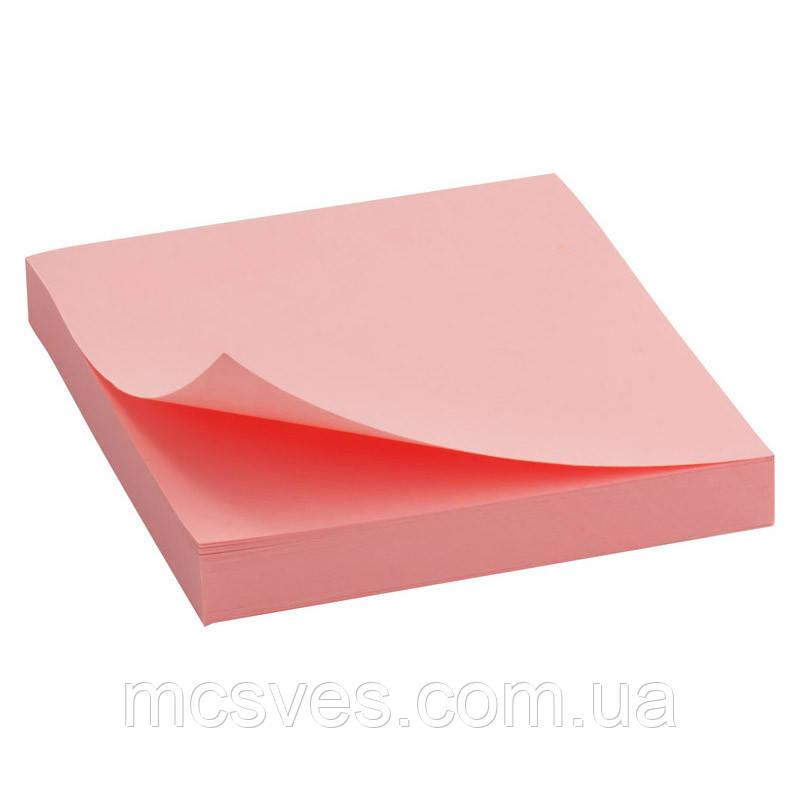 Блок бумаги с липким слоем Delta D3314-03 75x75 мм, 100 листов, розовый
