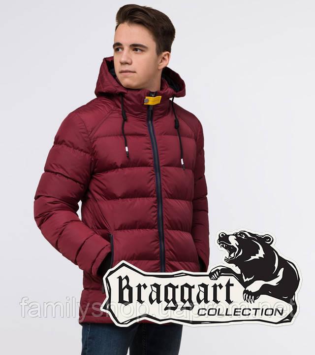 Подросток 13-17 лет | Куртка зимняя Braggart Teenager 75263 бордовая