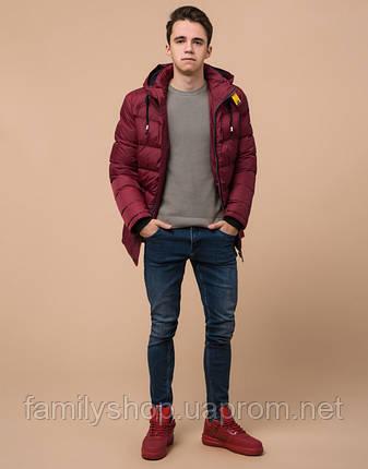Подросток 13-17 лет | Куртка зимняя Braggart Teenager 75263 бордовая, фото 2