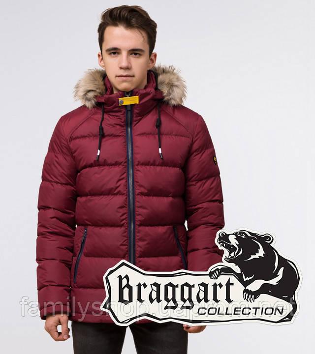 Подросток 13-17 лет | Куртка зимняя Braggart Teenager 73563 бордовая