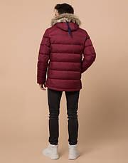 Подросток 13-17 лет | Куртка зимняя Braggart Teenager 73563 бордовая, фото 3