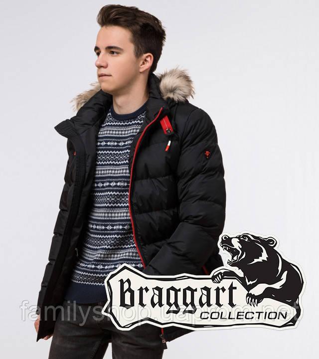 Подросток 13-17 лет   Зимняя куртка Braggart Teenager 73563 черная
