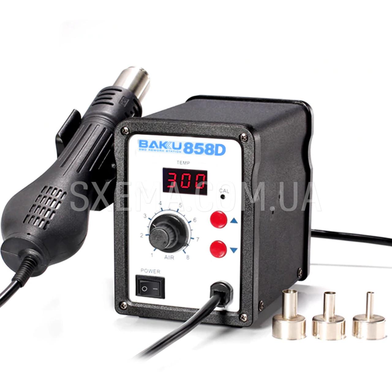 Паяльная станция Baku858D термофен для пайки 700W пайка SMD, BGA, QFP