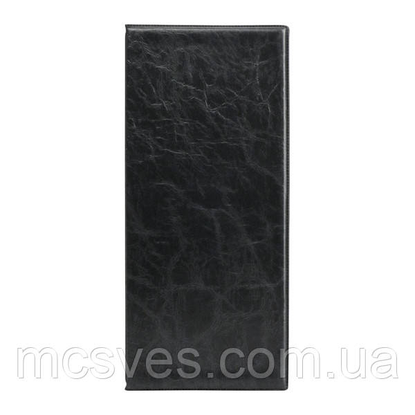 Визитница с впаянными файлами Axent 2502-01-A Xepter, 80 визиток, черная