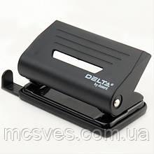 Діркопробивач пластиковий Delta D3610-01, 10 аркушів, чорний
