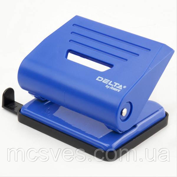 Дырокол пластиковый Delta D3616-02, 16 листов, синий