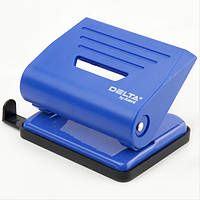 Дырокол пластиковый Delta D3616-02, 16 листов, синий, фото 1