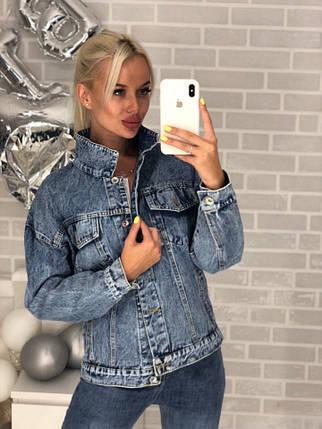 Короткий джинсовый пиджак, фото 2