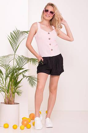 Невесомая женская блуза на тонких бретелях (S, M, L) розовая, фото 2