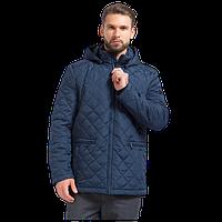 Мужская весенняя куртка Finn Flare A17-21001-101 темно-синяя стеганная