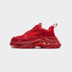 Женские кроссовки Balenciaga Triple S all Red