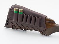 Патронташ на приклад кожа Ретро коричневый 10200/2, фото 1