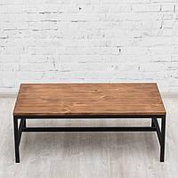 Журнальный/кофейный столик LNK-LOFT из натурального дерева 1000*550*360, фото 1