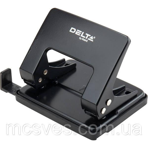 Дырокол металлический Delta D3520-01, 20 листов, черный