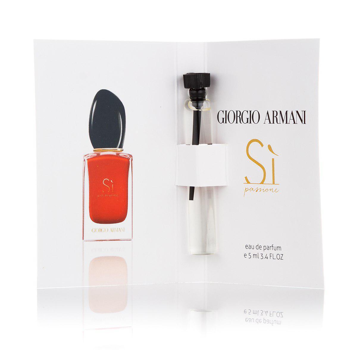 Женская парфюмированная вода (пробник) Giorgio Armani Si Passione - 5 мл