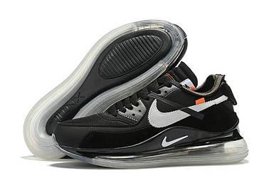 Мужские кроссовки Off-White x Nike Air Max 90 x 720 Black