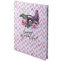Книга записная Axent Aquarelle 8432-06-А, твердая обложка, А5, 120 листов, клетка, фото 1