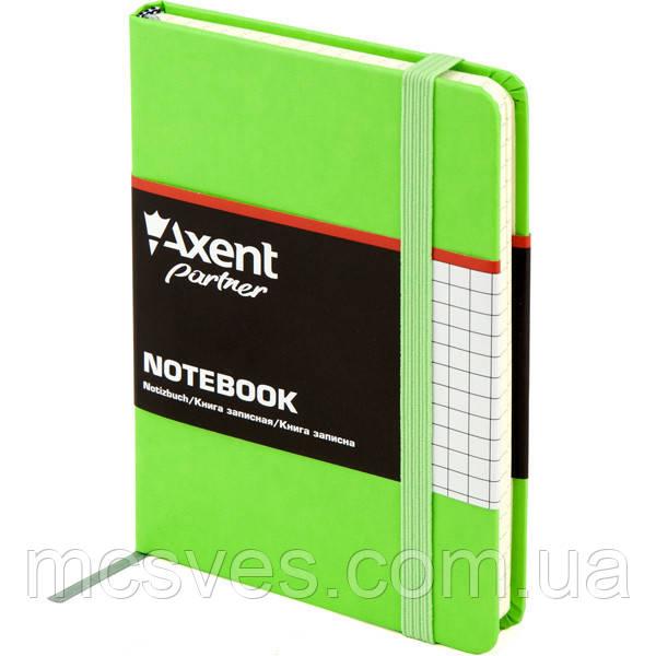 Книга записная Axent Partner 8301-04-A, А6, 96 листов, клетка, салатовая