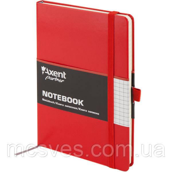 Книга записная Axent Partner 8201-03-A, А5-, 96 листов, клетка, красная