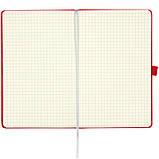 Книга записная Axent Partner 8201-03-A, А5-, 96 листов, клетка, красная, фото 6