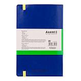 Книга записная Axent Partner 8209-07-A, А5-, 96 листов, точка, синяя, фото 3