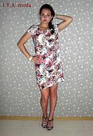 """Летнее платье из штапеля большого размера RIO"""" I.V.A.-MODA"""", фото 1"""