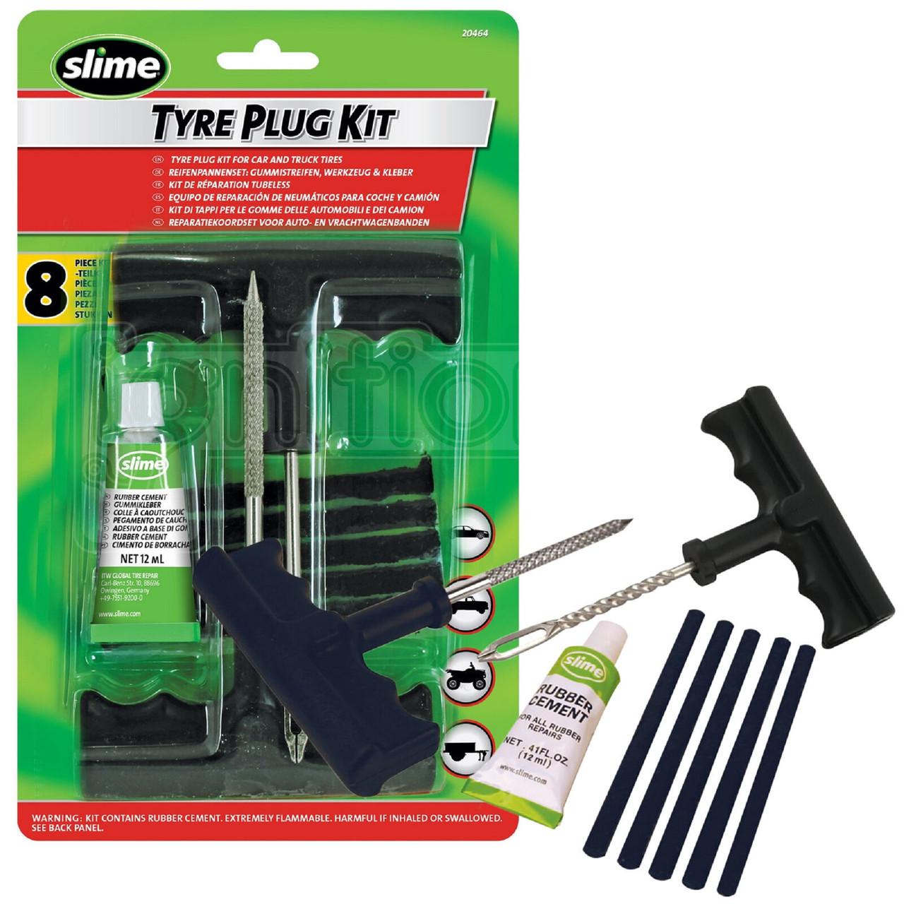 Ремонтный набор для бескамерных покрышек, Slime Tire Plug Kit