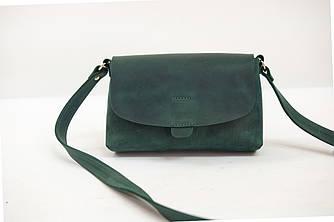 """Женская сумка """"Модель №27"""" Винтажная кожа цвет Зеленый"""