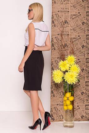 Шикарная женская блуза прямого кроя (S, M, L) белая, фото 2