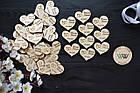 Свадебные фишки с именами и датой свадьбы, презент гостям, валюта для конкурсов, сердечки, фото 2
