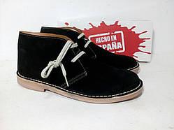 Мужские замшевые ботинки дезерты демисезон черные