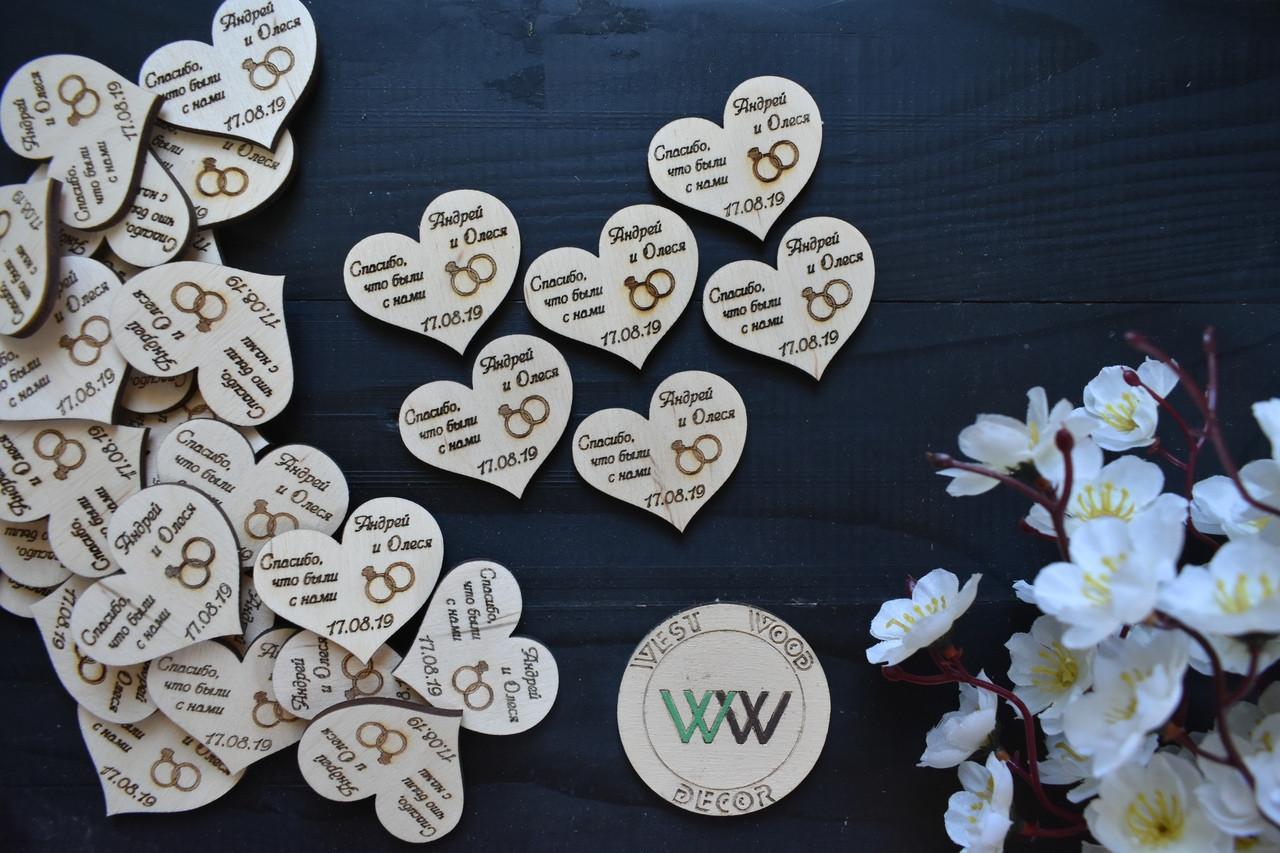 """Свадебные фишки с датой свадьбы, именами, """"Спасибо, что были с нами"""" презент гостям, валюта для конкурсов,"""