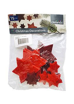 Новогодний декор (15 шт.) звёздочки Crelando