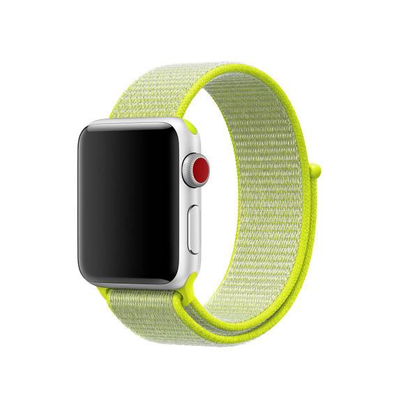 Ремешок ASSD для Apple Watch Series 4 Sport Loop 42 mm Flash Light Yellow (32792)