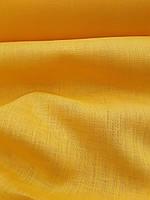 """Льняная сорочечная ткань """"Желтая Примула"""", фото 1"""