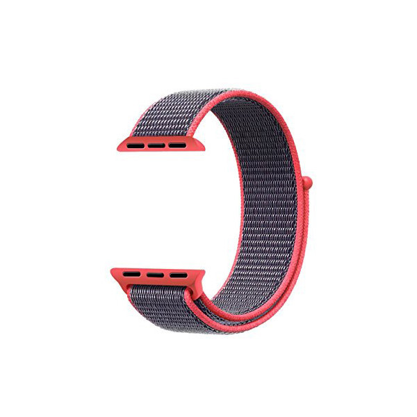 Ремешок ASSD для Apple Watch Series 2 Sport Loop 42 mm Electric Pink ( 72184)
