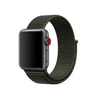 Ремешок ASSD для Apple Watch Series 2 Nike Sport Loop 42 mm Cargo Khaki Grey-Green (68800)