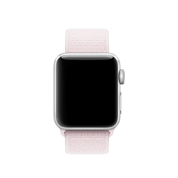 Ремешок ASSD для Apple Watch Series 2 Nike Sport Loop 42 mm Pearl Pink (90316)