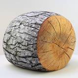 Антистрессовый Пуф Пенек интерьерный, полистерольные шарики, размер 24х30 см / tp - 15асп37ив, фото 3