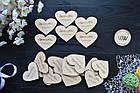 Свадебные фишки с именами молодых и датой свадьбы, презент гостям, валюта для конкурсов, сердечки, фото 3