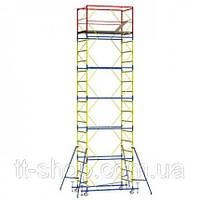 Вышка - тура - ширина 1,2 м, длина 2,0 м, высота настила - 17,4 м, рабочая высота - 19,4 м