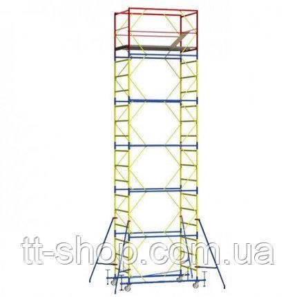 Вышка - тура - ширина 1,2 м, длина 2,0 м, высота настила - 21,0 м, рабочая высота - 23,0 м