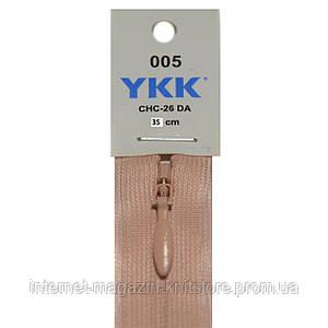 Молния YKK потайная 35см Розовый