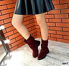 Демисезонные женские сапоги цвета марсала, натуральная замша  36 38 ПОСЛЕДНИЕ РАЗМЕРЫ, фото 6