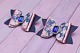 Стильные Бантики из экокожи сине-розовые, фото 2