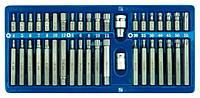 Набор бит (Torx/ Spline/ Hex) с переходниками 40 предметов Vorel 66400 (Польша)