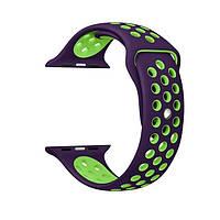 Ремешок Gaspri Nike Sport Band для Apple Watch S-M size 42mm Purple/Green (74446)