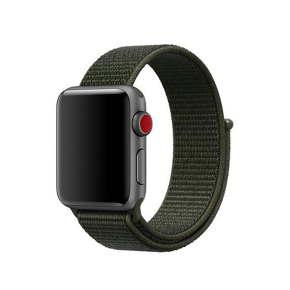 Ремешок iG для Apple Watch Series 1 Nike Sport Loop 38 mm Cargo Khaki Grey-Green (99665)