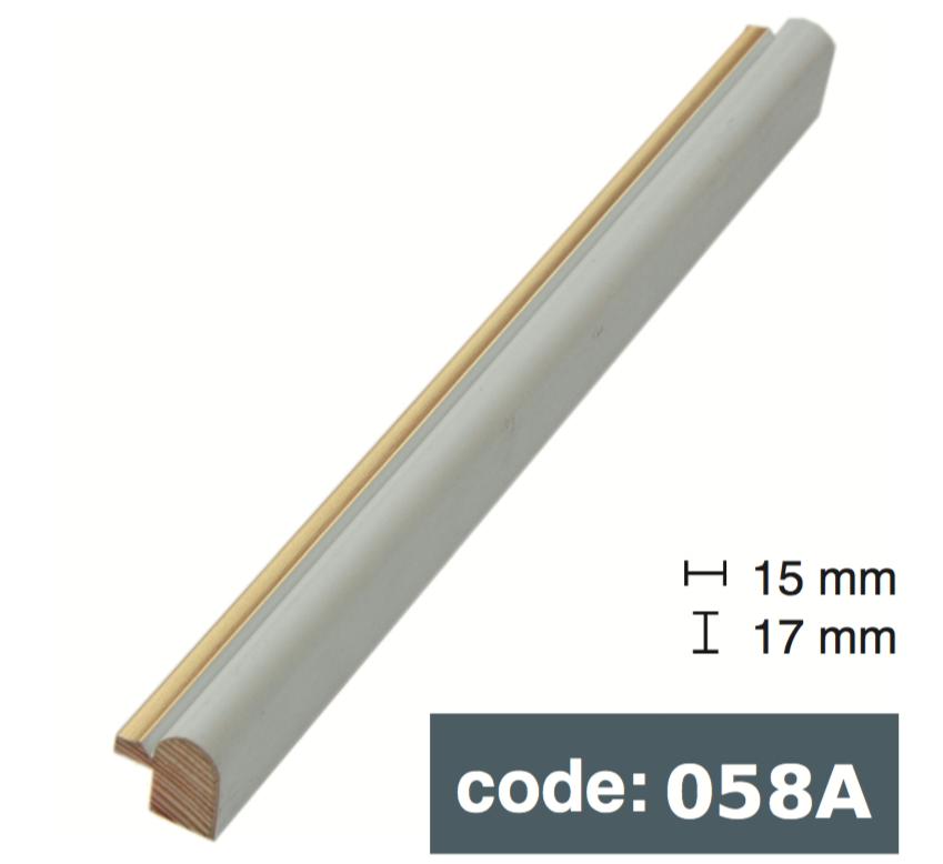 Багет дерев'яний білий з золотом
